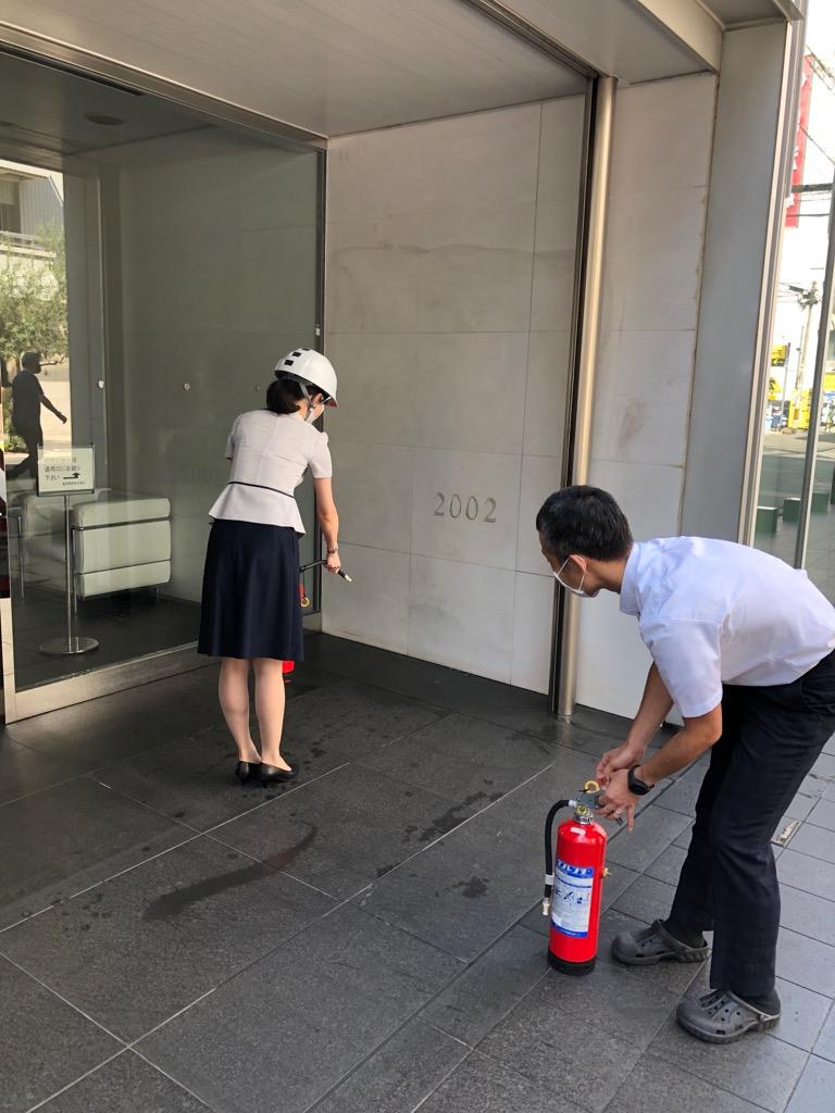 【CSR】消防訓練の実施(より良い製品づくり事業を通して)